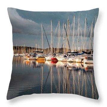 Marina Sunset 9 Throw Pillow