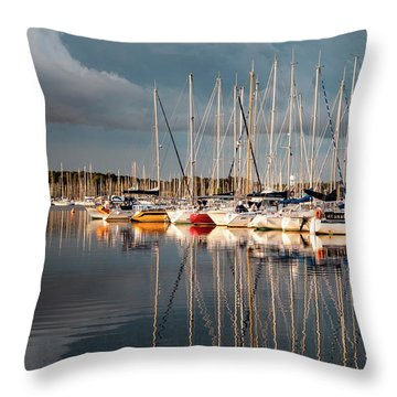 Marina Sunset 9 Throw Pillow