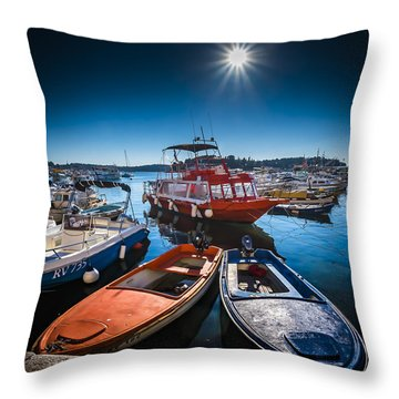 Marina Under The Sun Throw Pillow