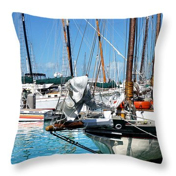Marinas And Masts  Throw Pillow