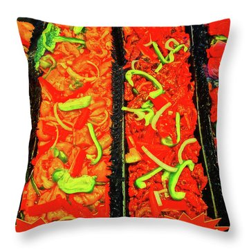 Marinated 3 Throw Pillow by Bruce Iorio