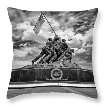 Marine Corps War Memorial Throw Pillow