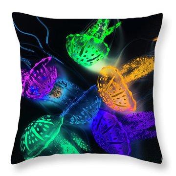 Marine Glow Throw Pillow