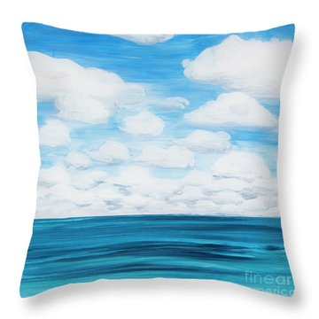 Marine Layer Breaking Up Throw Pillow