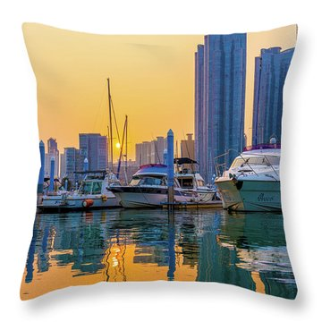 Marine Park, Busan, Korea Throw Pillow