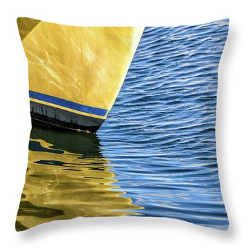 Throw Pillow featuring the photograph Maritime Reflections by Louise Lindsay