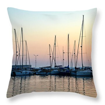 Marine Reflections Throw Pillow