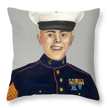Marine Sergeant  Throw Pillow