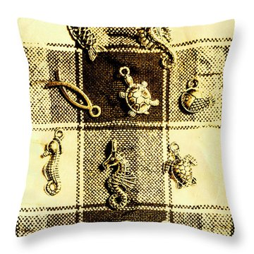 Marine Theme Throw Pillow