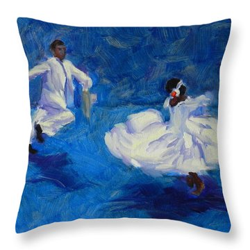 Marinera Nortenia Blue Throw Pillow