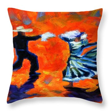 Marinera Nortenia Red Throw Pillow