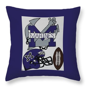 Marinette Marines. Throw Pillow