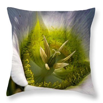 Mariposa Lily Throw Pillow by Alana Thrower
