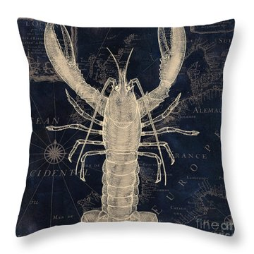Maritime Blues Iv Throw Pillow by Mindy Sommers