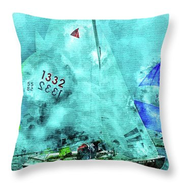 Maritime Number One Throw Pillow
