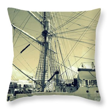 Maritime Spiderweb Throw Pillow
