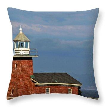 Mark Abbott Memorial Lighthouse California - The World's Oldest Surfing Museum Throw Pillow by Christine Till