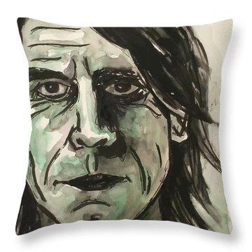 Mark Arm Mudhoney Throw Pillow