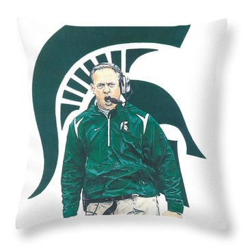 Mark Dantonio Throw Pillow