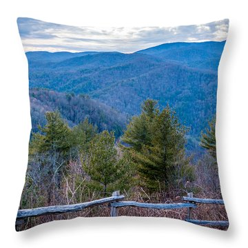 Mark Hannah Overlook Cataloochee Throw Pillow