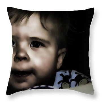 Mark In The Dark Throw Pillow