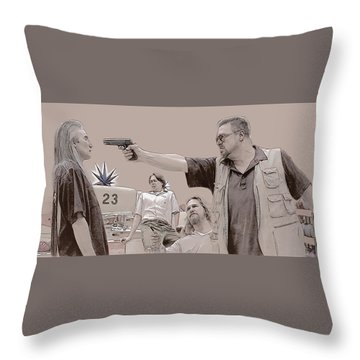 Mark It Zero Throw Pillow by Kurt Ramschissel