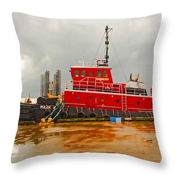 Mark K Throw Pillow