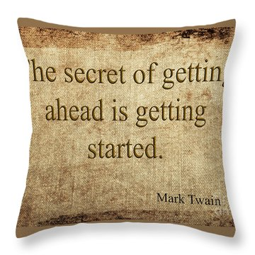 Mark Twain Throw Pillow
