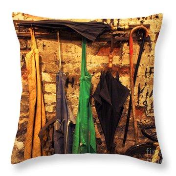 Mark Twain's Coat Rack Throw Pillow