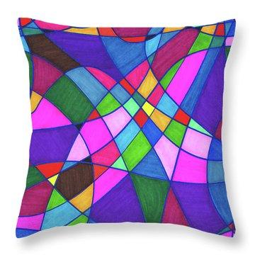 Marker Mosaic Throw Pillow