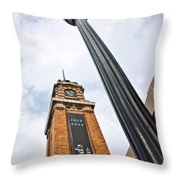 Market Clock Tower Throw Pillow