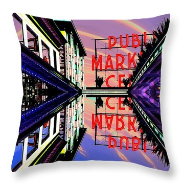 Market Entrance Throw Pillow by Tim Allen