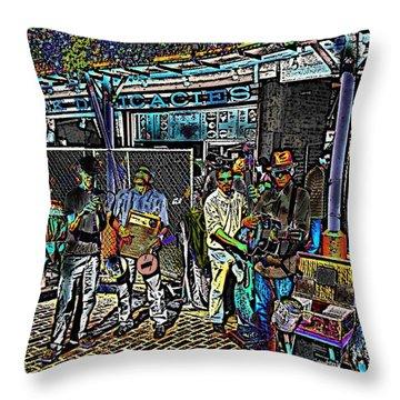 Market Interlude 2 Throw Pillow by Tim Allen