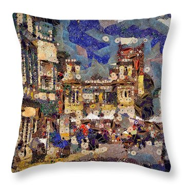 Market Square Monday Throw Pillow