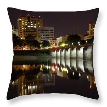 Market Street Bridge Reflections Throw Pillow