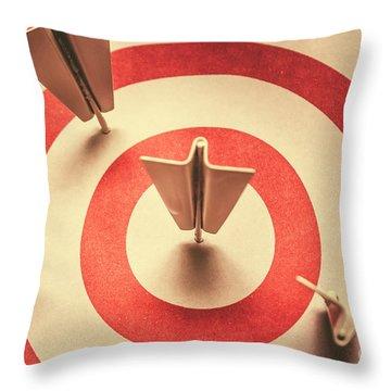 Marketing Your Target Market Throw Pillow