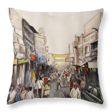 Marketplace Throw Pillow