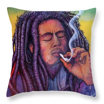 Marley Smoking Throw Pillow