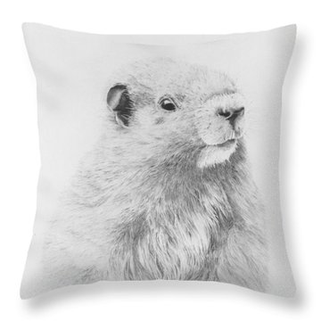 Marmot Throw Pillow by Glen Frear