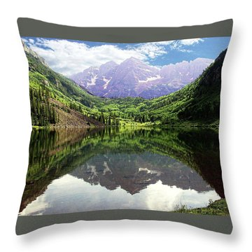 Maroon Bells  Throw Pillow by Jerry Battle