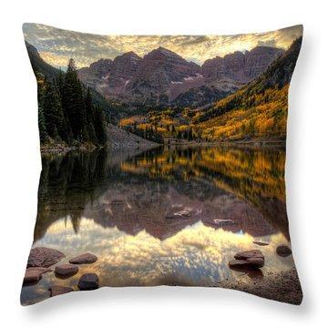Maroon Glow Throw Pillow