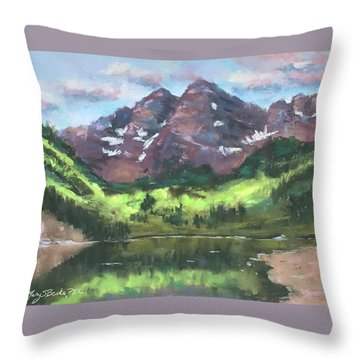 Maroon Reflections Throw Pillow