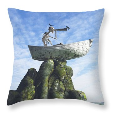 Marooned Throw Pillow by Cynthia Decker