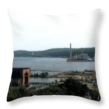 Marquette Michigan Throw Pillow