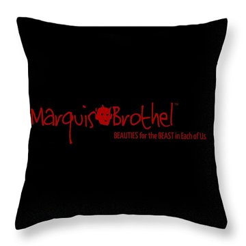 Marquis' Brothel Logo Throw Pillow