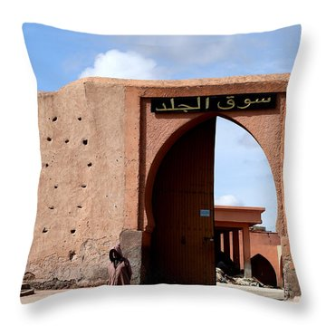 Throw Pillow featuring the photograph Marrakech 1 by Andrew Fare