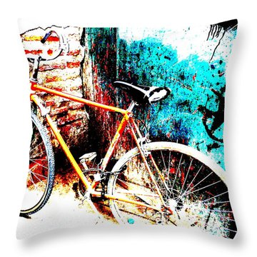 Marrakech Funky Bike  Throw Pillow