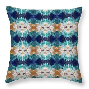 Marrakesh Blues- Art By Linda Woods Throw Pillow