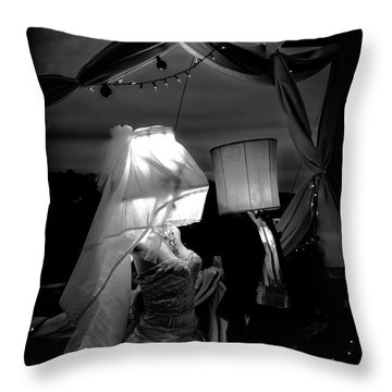 Throw Pillow featuring the photograph Marriage Of Darkness And Light by Alan Raasch