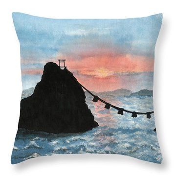 Married Couple Rocks At Sunrise Throw Pillow